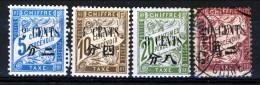 Cina Timbre Taxe 1911 Serie Mista N. 20-23 Catalogo € 17