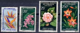 CAMEROON 1966/7 Flowers 15f, 20f, 25f, 250f Used - Cameroon (1960-...)