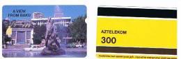 AZERBAIJAN  - ALCATEL AZTELEKOM -   VEDUTA DI BAKU: STATUA  -  USATA° (USED) -  RIF. 290 - Azerbaïjan