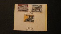 Vatican Roman Osservatore Set Of Three Top Left Stamp Clipped Day Of Issue Cancel 1961  A04s - Vatican