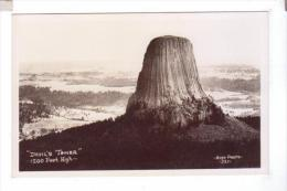 DEVIL'S TOWER  Photo POST CARD  Rppc - Etats-Unis