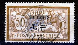 Cina 1907 Tipi Del 1902-906 Con Valore In Moneta Cinese Serie N. 80 C. 20 Su C. 50 USATO Catalogo € 5 - Ohne Zuordnung