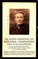 Vanhoven Melania - Massaer Jan,Francis ° Holsbeek 1879 + 1945 Aldaar   Lot 12433 - Images Religieuses
