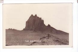 TSE BIT A Shiprock Winged Rock Navajo Nation  Photo  POST CARD  Rppc - Etats-Unis