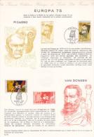Europa Picasso Van Dongen (´75) FDC 1er Jour (Notice Philatélique Réalisée Par La Poste Pour Le Musée Postal) - Documents De La Poste