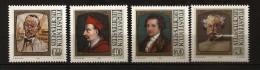 Liechtenstein 1981 N° 725 / 8 ** Tableau, Saint Charles Borromée, Cardinal, Goethe, Science, Géologie, Alexandre Dumas - Unused Stamps