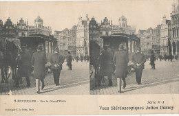 YY 416 / C P A   - BELGIQUE - BRUXELLES  -SUR LA GRAND'PLACE (TRAM A CHEVAUX) - Lanen, Boulevards