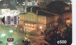 Costa Rica, CRI-C-17, Centenario Teatro Nacional (1St Edition), 2 Scans. - Costa Rica
