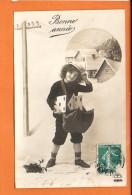 Poste Facteur - Lettre -  Fête - Fantaisie -Enfant- Bonne Année - Poste & Facteurs