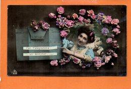 Poste Facteur -Fête - Bonne Année Fantaisie Télégramme - Poste & Facteurs
