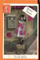 Poste - Lettre  - Fantaisie - Enfant - Fête Bonne Année - Poste & Facteurs