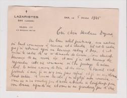 Vieux Papiers De 1945 LAZARISTES DAX LANDES - Vieux Papiers