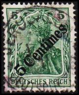 1908. 5 Centimes 5 Pf. DEUTSCHES REICH.  (Michel: 48) - JF190826 - Bureau: Turquie