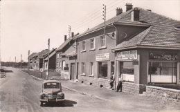 """1955 Environs De Longwy  Tellancourt """" Carrefour Vers La Frontière  """" Renault 4CV  -  Café Boulangerie  - - Longuyon"""