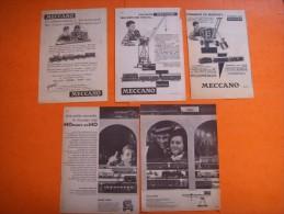 41) 4  Pub ( 1 Double ): Hornby Acho  Meccano , Dinky Toys  :  : VERSO : Larousse , Hennessy , Gaz De Ville - Publicités
