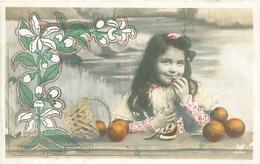 Belle  Carte     -   Enfants -    Fleurs Et Fruits                 AH749 - Portraits