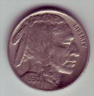 - USA - Etats Unis - Five Cents Buffalo 1930. - Federal Issues