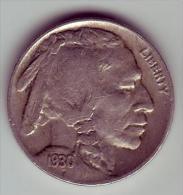 - USA - Etats Unis - Five Cents Buffalo 1930. - 1913-1938: Buffalo