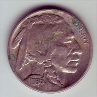 - USA - Etats Unis - Five Cents Buffalo 1936. - Federal Issues