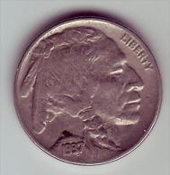 - USA - Etats Unis - Five Cents Buffalo 1937. - Federal Issues