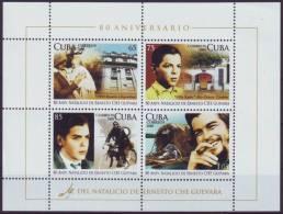 2008.241 CUBA 2008 SPECIAL FORMAT SHEET. 80 ANIV DEL NACIMIENTO DE ERNESTO CHE GUEVARA - Briefmarken