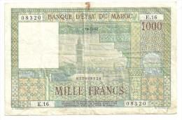 Morocco 1000 Francs 10/12/1952 - Marocco