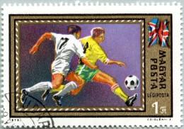 N° Yvert-Tellier 348 - Timbre Hongrie - Poste Aérienne (1972) - U (Avec Gomme) - Championnat Football - Angleterre (DA)