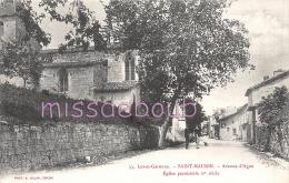 47 - SAINT MAURIN - Avenue D'Agens - Eglise Paroissiale -  2 Scans - Autres Communes
