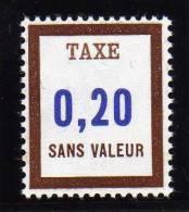 FRANCE FICTIF TAXE N° FT23 ** Timbre Neuf Gomme D´origine - TB - Phantom