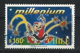 "CHILE 2000 Art – 50 Years Of Comic Hero ""Condorito"" Postally Used MICHEL # 1931 - Chile"