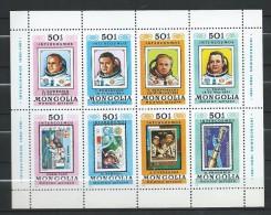 "Mongolia 1980 Mi - 1318/1327.""Intercosmos"" Space Programme - Cosmonauts.MNH - Mongolia"