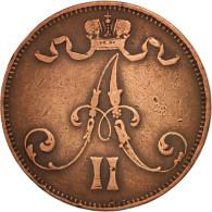 Finlande, Alexander II, 5 Pennia, 1872, Non Applicable, TTB, Cuivre, KM:4.2