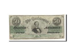 Confederate States Of America, 50 Dollars, 1862, KM:54a, 1862-12-02, TTB - Valuta Della Confederazione (1861-1864)