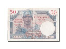 France, 50 Francs, 1947 French Treasury, 1947, KM:M8, 1947, TTB+, Fayette:VF... - Treasury