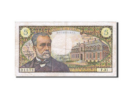 France, 5 Francs, 1966, KM:146a, 1966-09-01, TTB, Fayette:61.3 - 5 F 1966-1970 ''Pasteur''