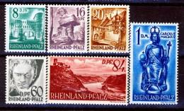 Germania Occupation Française RHEINLAND 1948 Tipi Del 1947-48 Ritoccati Serie N. 22-27 **MNH Catalogo € 32,50 - French Zone
