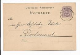 DR P 18 - 5 Pf Ziffer DD 788 Mit Stempel  Beckum Nach Dortmund Bedarfsverwendet - Enteros Postales