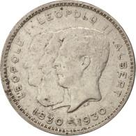 Belgique, 10 Francs-10 Frank, Deux / Twee Belgas, 1930, TTB+, Nickel, KM:100 - 1909-1934: Albert I