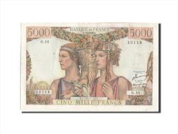 France, 5000 Francs, 5 000 F 1949-1957 ''Terre Et Mer'', 1949, KM:131a, 1949-... - 1871-1952 Frühe Francs Des 20. Jh.