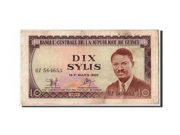 Guinée, 10 Sylis, 1971, KM:16, 1960-03-01, TTB - Guinea