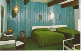 Mancelona Michigan, Schuss Mountain Resort Hotel Room Interior View C1970s Vintage Postcard - United States