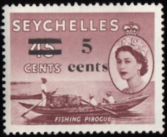 "SEYCHELLES - Scott #193 Fishing Canoe ""Surcharged"" / Mint NH Stamp - Seychelles (...-1976)"