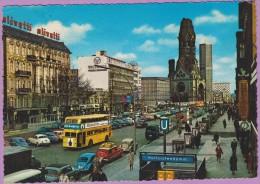 Allemagne °° Berlin - Kurfürstendam Mit Alter Und Neuer Kaiser - Dentelée écrite - Otros
