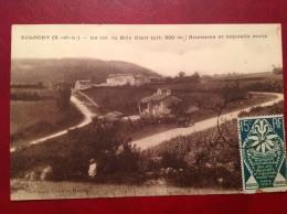 71 Saone Et Loire Cpa SOLOGNY Le Col Du Bois Clair Ancienne Et Nouvelle Route + Expo Paris 1925 - Other Municipalities