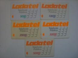 M�XICO - GPT - LADATEL -5000, 1000,0 20000, 30000 & 50000 - SET COMPLETO