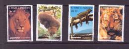 SAO-TOME 1996 FELINS-GREENPEACE  YVERT  N° NEUF MNH** - Big Cats (cats Of Prey)