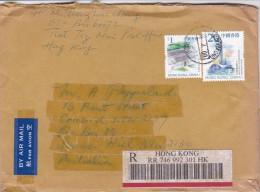 Hong Kong 2000 Registered Mail Sent To Australia - 1997-... Chinese Admnistrative Region