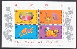 HONG KONG   737a  S/S    **  YEAR  OF THE  RAT - Hong Kong (...-1997)