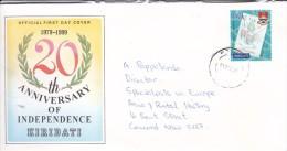 Kiribati 2001 Cover Sent To Australia - Kiribati (1979-...)