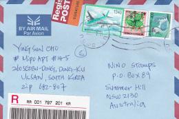 Korea 2001 Registered Mail To Australia - Korea (...-1945)
